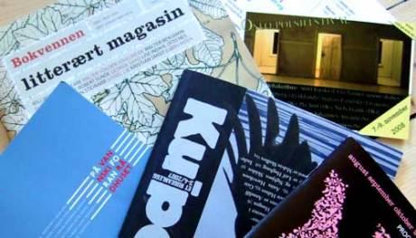 Et lite utvalg av høstens lesestoff, kapret på Litteraturhuset 23. august 2008.
