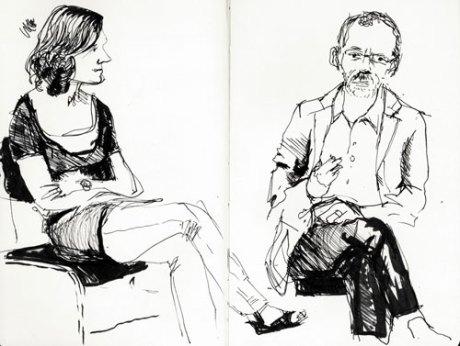 Professorene Kjersti Bale og Arne Melberg i samtale om prosa og poesi.