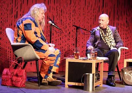 Triztan Vindtorn intervjues av Arild Linneberg på Oslo Poesifestival 2008.