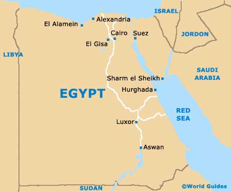 kongenes dal kart Egyptiske farger (Luxor) | Bharfot kongenes dal kart