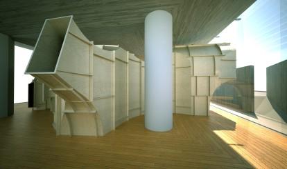 Installasjonen «Kroppsrom» av Atelier Oslo. Foto: Arkitekturmuseet.