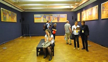 Deler av Reinhard-frisen, som kan ses i sin helhet på Munchmuseet i sommer. Foto: Oda Bhar. (Bildet er fra pressevisningen.)