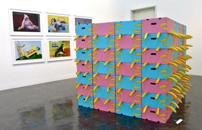 Anja Carr: «Banana Blues» (2012). Også fotografiene bak installasjonen er lagd av Anja Carr. Foto: Oda Bhar.