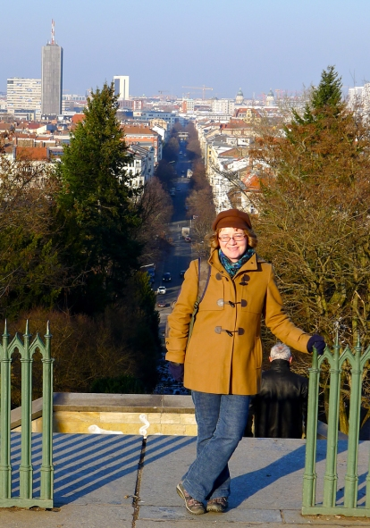 Det var nydelig sol og vårluft i Berlin under hele festivalen. Her er jeg på det lille fjellet i bydelen Kreuzberg, med utsikt mot byen. Foto: Tor-Björn Adelgren.