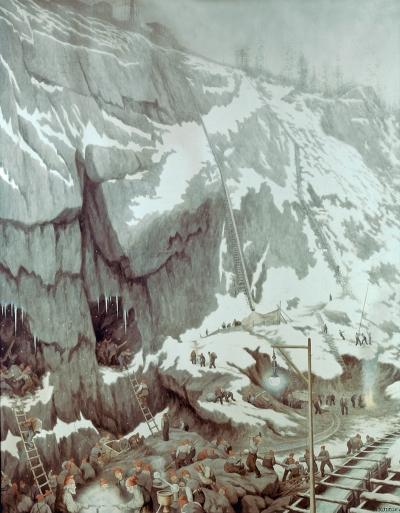 Theodor Kittelsen: «Grunnarbeide» (1907). Foto: Telemarksgalleriet.