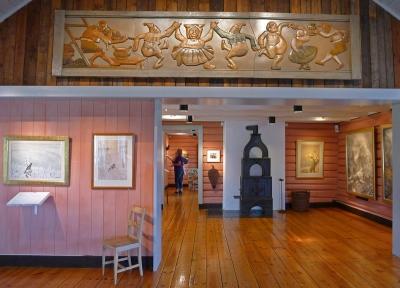 Interiør fra Kittelsen-museet på Modum. Foto: Oda Bhar.