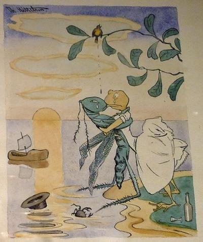 Theodor Kittelsen: «Syg kjærlighed», illustrasjon fra «Har dyrene sjel?»